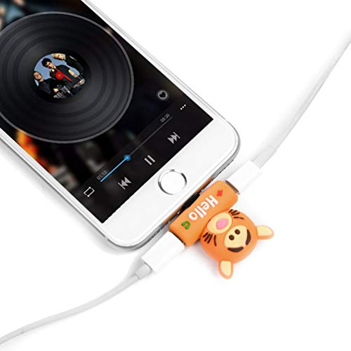 Lykke. Kartenadapter für das iPhone Komfortables Musik & Aufladen für Iphone7 / Iphone7 Plus / Iphone9 / Iphone9 Plus - Gelbe Katze