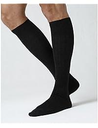 BLEUFORÊT - Chaussettes Hautes Laine Intérieur Coton à côtes