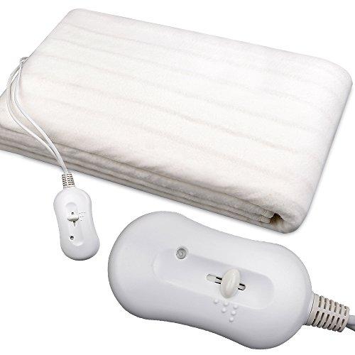 Heizdecke Heizmatte Wärmedecke Wärmeunterbett 60 W 190x80cm waschbar 3 Wärmestufen Überhitzungsschutz