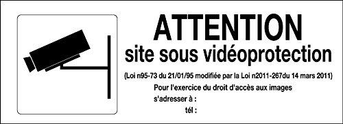 novap–Starre Schild–Vorsicht Website unter Überwachung + Picto 330x 120mm