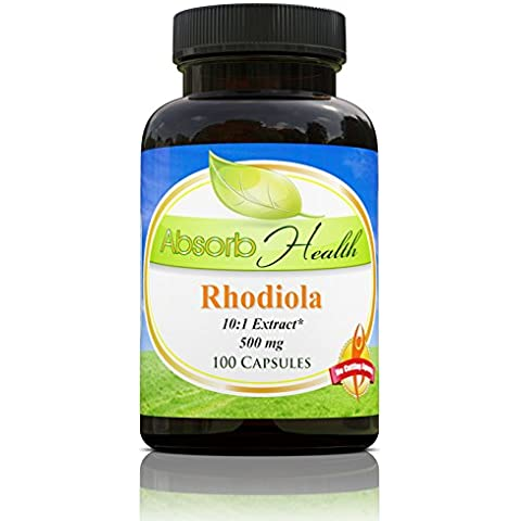 Rhodiola Rosea Extract 10:01 | 500 mg | 100 Capsules | Resistencia Soporte | Aumentar Fuerza y Resistencia