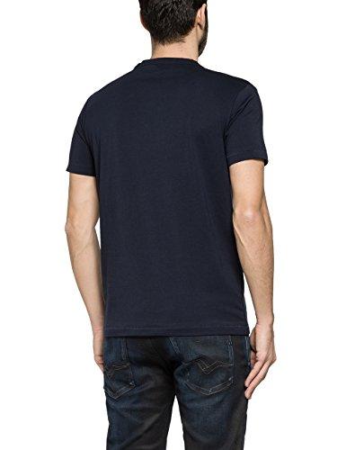 Replay Herren T-Shirt M3089 .000.2660 Blau (MIDNIGHT BLUE 498)