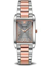 Swiss Military Hanowa 16-7050.12.009 - Reloj para mujeres, correa de acero inoxidable bicolor