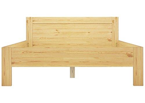 Doppelbett Französisches Bett 140x200 Massivholz Kiefer Bettgestell ohne Zubehör 60.68-14 oR Französisch Bett