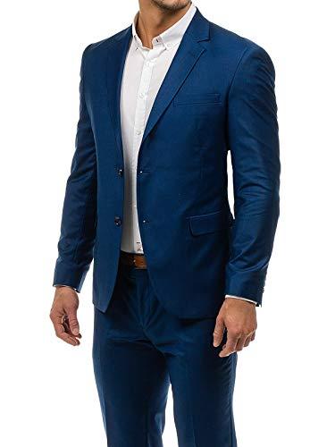 Chino-zwei-knopf-anzug-jacke (BOLF Herren Anzug Sakko Classic Slim Fit BIBLOS 1000 Dunkelblau-2 XL/54 [1J2])