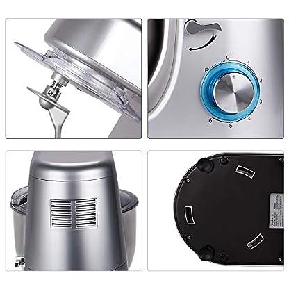 Cookmii-Kchenmaschine-1800W-Hohe-Energie-Knetmaschine-65-Liter-Rhrschssel-6-stufige-Geschwindigkeit-Teigmaschine