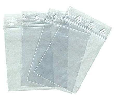 aux normes europ/éennes de production plastique pr/él/èvement 50 microns Lot 100 sachets /à fermeture zip format 40 x 60 mm 4 x 6 cm pochettes qualit/é alimentaire