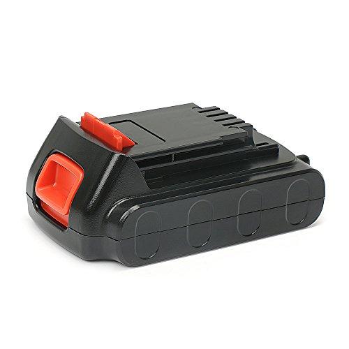 18V 20V 1,5Ah Reale Kapazität Li-Ion Ersatzakku Werkzeugakku für Black & Decker BL2018 LBXR20 LBXR2020-OPE LB20 LBX20 BL2018-XJ GKC1825L GTC1850L20 STC1820 (20v Lithium-batterie-ladegerät)