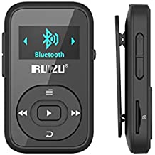 Reproductor MP3Bluetooth, mini clip de 8GB, pantalla OLED con radio FM + Auriculares