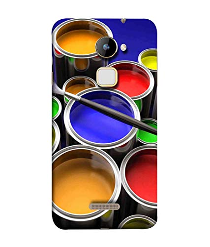 Printfidaa Metal Paint Bucket with Colourful for Painting Print Designer Back Cover for Coolpad Note 3 Lite