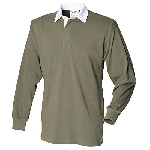 Front Row Long sleeve original rugby shirt Olive