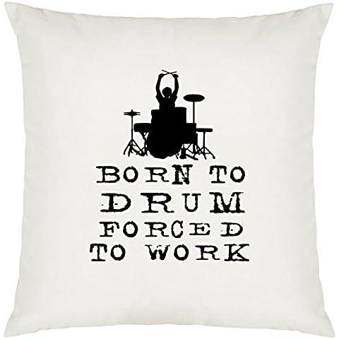 Born to Drum Design Cuscino grande, con imbottitura - Joey Jordison Drum Set