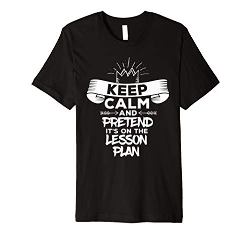 Keep Calm And Pretend It's On The Lesson Plan Funny T-Shirt