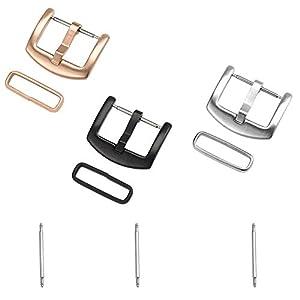 Cizen Ersatzschnalle für Uhren, Schnalle aus Edelstahl, mit 3 Ersatzteilen