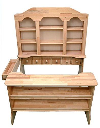Traum Kind® Kinderkaufladen mit Schubladen Kaufmannsladen groß Holzkaufladen Holz Buche Massivholz natur - MADE IN GERMANY