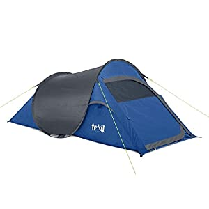 trail ss 2 man pop up tent quick pitch festival camping waterproof 1500mm hh