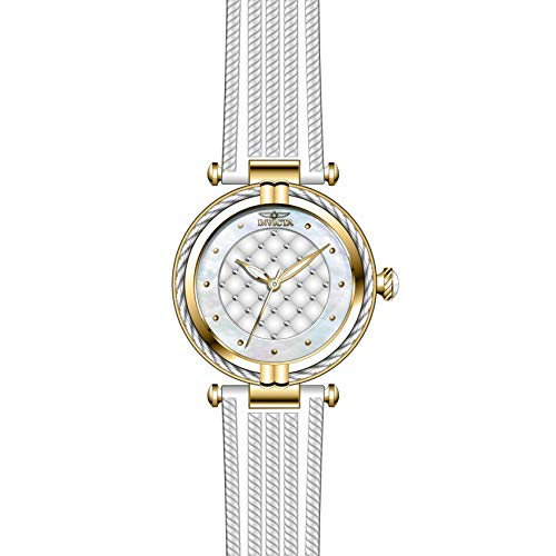 Invicta Bolt Femme Bracelet Caoutchouc Blanc Quartz Analogique Montre 28943