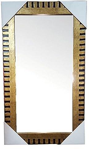 Miroir mural Doré & Noir 59x 29cm avec kit de suspension murale miroir