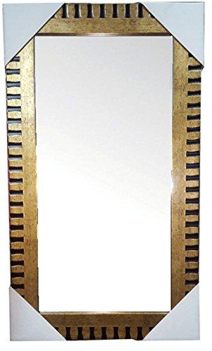 Dorado-y-negro-espejo-de-pared-59-x-29-cm-con-kit-para-colgar-cuadros-espejo-montado-en-la-pared