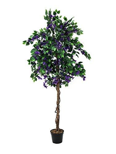 artplants Künstliche Bougainvillea mit 1000 Blättern, violett, 150 cm – Kunstblumen/Deko Pflanze