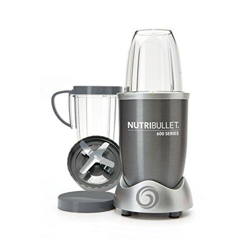 NutriBullet NUTRI600G Batidora de vaso 950L 600W Gris - Licuadora (Batidora de vaso, 950 L, Gris, 21500 RPM, De plástico, Acero inoxidable)