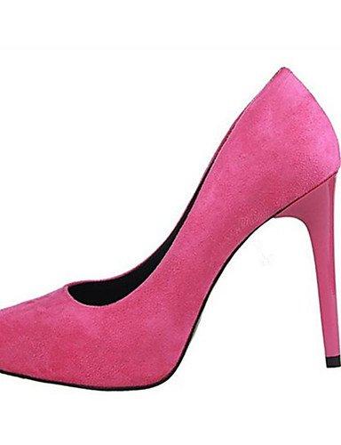 WSS 2016 Chaussures Femme-Extérieure / Habillé / Décontracté-Noir / Rose / Gris / Kaki / Corail-Talon Aiguille-Talons / Bout Pointu-Talons-Laine gray-us8 / eu39 / uk6 / cn39