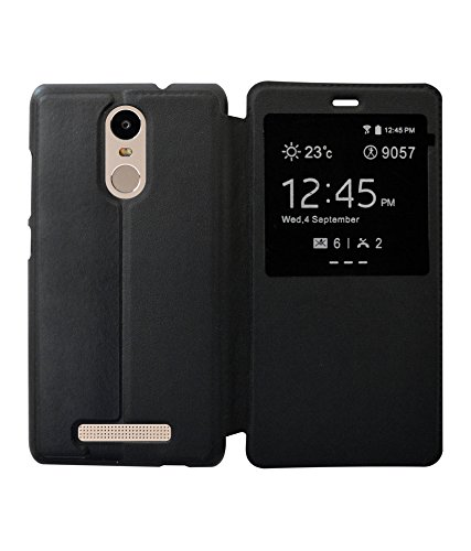 RDCASE Flip Cover for Xiaomi Redmi Note 3 - Black  available at amazon for Rs.299