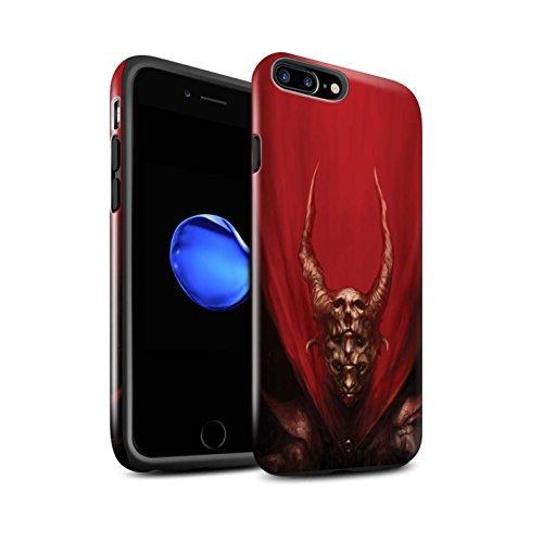 Offiziell Chris Cold Hülle / Glanz Harten Stoßfest Case für Apple iPhone 7 Plus / Hohe Königin Muster / Dunkle Kunst Dämon Kollektion Rot Herzog