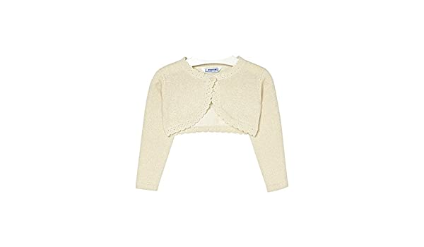 Mayoral 0314 Champagne Basic Knitted Cardigan for Girls