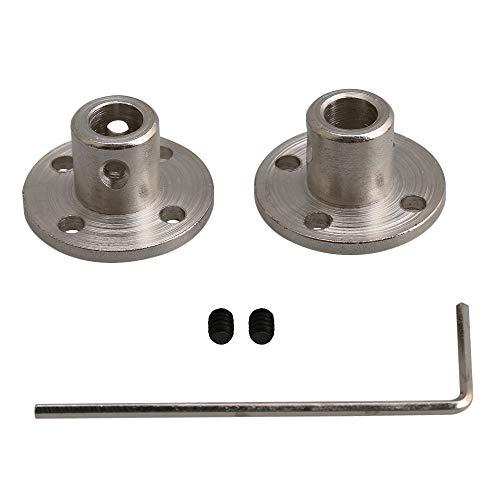 Yibuy 2 Stück 6-10 mm Stahl starr Flansch Kupplungswelle mit Schraubenschlüssel Set - 2 Stück Flansch