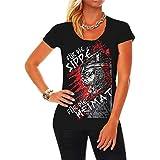Frauen und Damen T-Shirt Tradition Für die Sippe für die Heimat Größe XS - 5XL