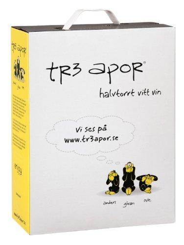 TR3 Apor - Halbtrockener Weißwein 9% - 3l Bag-in-Box