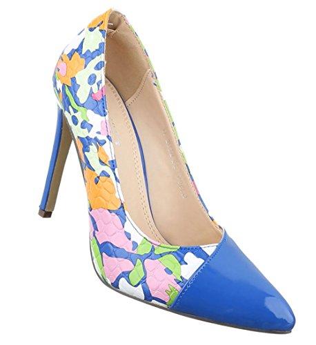 Bombas Senhoras Sapatos De Salto Alto Saltos Agulha Bege-rosa Azul 36 37 38 39 40