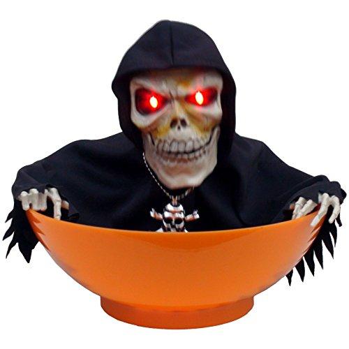 Candy Sensenmann Snack Schale schreit bewegt sich und leuchtet mit den Augen Halloween Party Spaß (Halloween Candy Schüssel)
