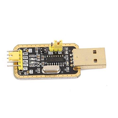WINGONEER® 3.3V/5V USB zum TTL-Konverter CH340G UART Serial Adapter Module Goldene (Diagnostische Geräte)