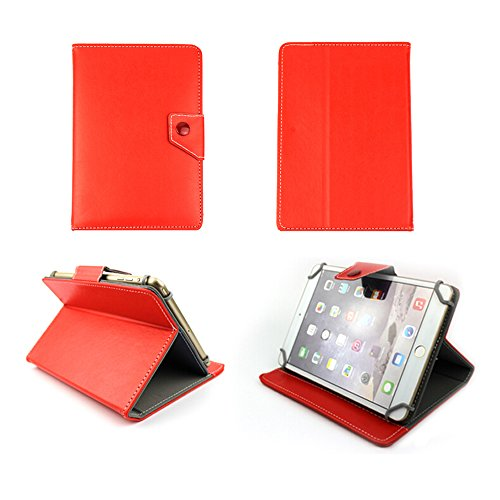 Universal tablet PC tasche 10 zoll Ultra Slim Leder Style Xeptio Red/Rot mit Ständer - Tasche Hülle Schutzhülle Case Cover Tablet 9.2 9.4 9.7 10 10.1 10.2 zoll für Asus Google Nexus 10, Samsung Galaxy Note 10.1 N8000 / N8010 / Edition 2014 - Samsung Galaxy Tab 2 P5110 / P5100 - Galaxy Tab 3 10.1 wifi + 3g P5200 - Galaxy Tab P7510 / P7500 - Apple iPad 2, 3 und 4 Retina - iPad Air 3G/4G/LTE - Intenso Tab 1004 - Superpad - Captiva Pad 10 - Odys Noon / Cosmo / Iron / Leos 10 - Easypix EasyPad 970/1370 - Acer iconia A3-A10 - Tab A510 / A511 / A700 / A701 / A210 / A211 / W510 - Coby Kyros MID1125/MID1126 - Medion Lifetab S9714 / E10311 - Toshiba AT300-100 / AT300-101 / AT300-103 - Asus EeePad Transformer Pad TF101 / TF101G / TF300T / TF700 / TF700T - Asus MeMo Pad Full HD10 ME302 - TechniPad 10G - Siroco Tablet 10 - Ainol Novo 10 Hero - Archos 101 - Arnova 9 G2 / 10c G3 - I-ONIK TabletPC TP10.1-1500DC-metal - MEDION MD 98248 / LifeTab P9514 - Motorola Xoom 1 / 2 (simple or Media Edition) neu Sony Xperia tablet Z / SGPT121 Tablet S (Zubehör XEPTIO - Red/Rot - PU Leder)