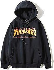 Thrasher Magazine Round Neck Hoodies For Unisex