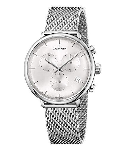 Calvin Klein Unisex Erwachsene Chronograph Quarz Uhr mit Edelstahl Armband K8M27126