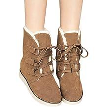 Botas de Nieve Mujer de Felpa, Damas de Mujer Zapatos de Invierno con