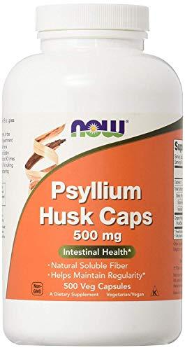 500 Mg Vegetarische Caps (Now Foods I Psyllium Husk (Psylliumschale) 500mg I Darmgesundheit I Vegetarisch I Vegan I 500 Kapseln)