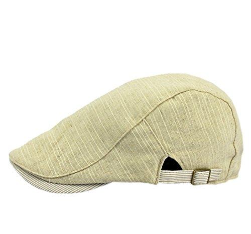 YueLian Unisex Adultos Otoño al Aire Libre Retro Casual Abrigador Gorro Gorra con Visera Corta Casquillo Chapeo Boina