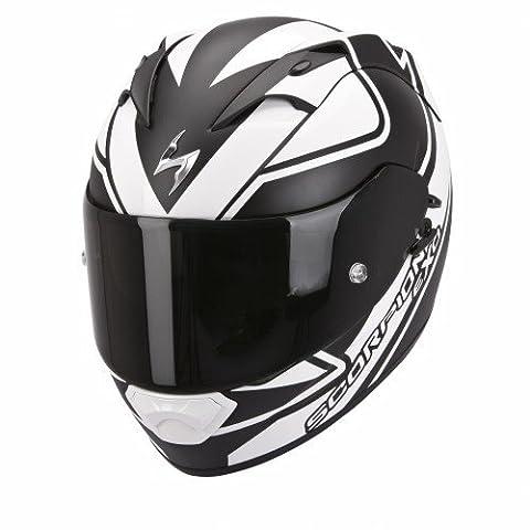 Scorpion Casque de Moto EXO-1200 AIR Freeway, Noir/Blanc, Taille L