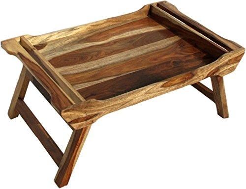 Holz Dekor Serviertablett mit Bett Tisch, zwei Ton, 70x 45x 28cms