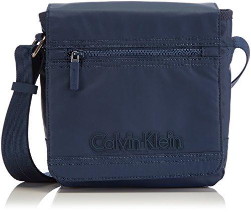 Calvin Klein Jeans Metro Reporter With Flap, Borsa Uomo Blu (Blues 411)