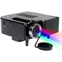 Unic UC20 Mini Multimedia LCD LED proyector para Home Theater, apoya SD Card/USB/AV ((negro)
