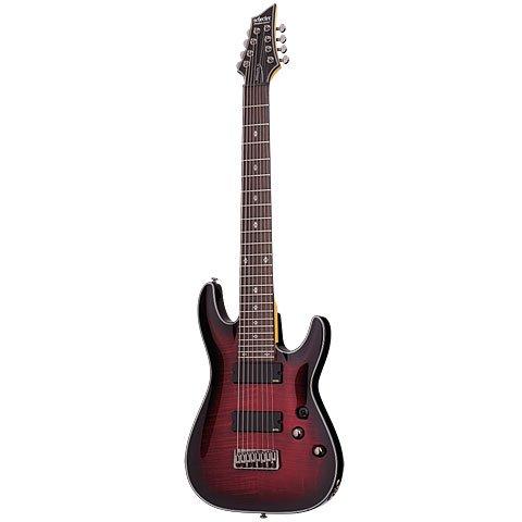Schecter Damien Elite 8 CRB · Guitarra eléctrica