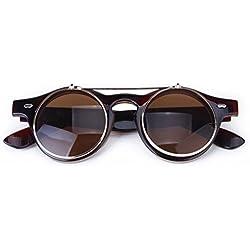 cc3e6c6f40 TOOGOO (R) Gafas Estilo Steampunk De Goth Del Vintage Gafas De Sol para  Cosplay