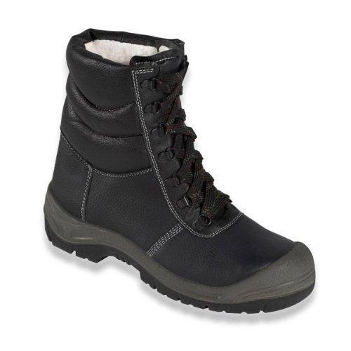 Winter-Schnürstiefel Sicherheits-Schnürstiefel SAALFELD ÜK - S3 - mit Stahlkappe - schwarz/grau - Größe: 45