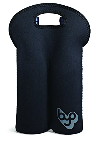 BYO by BUILT NY Two-Bottle Neoprene Wine/Water Tote, Black by BYO Two Bottle Tote