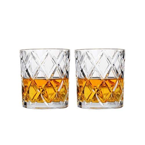 Paquet de 2 Simple Diamant Classique Cristal Verre Whisky Tasse Esprit Verre Verre À Vin Ménage Tasse Bière Verre Tasse À Jus Tasse À Thé